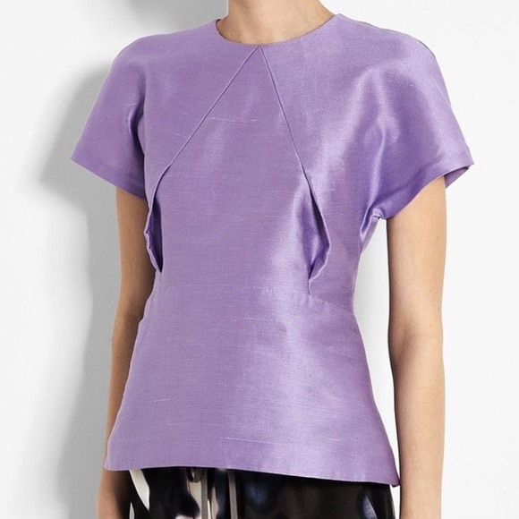 Acne Tops Sweet Kick Origami Top In Lavender Poshmark